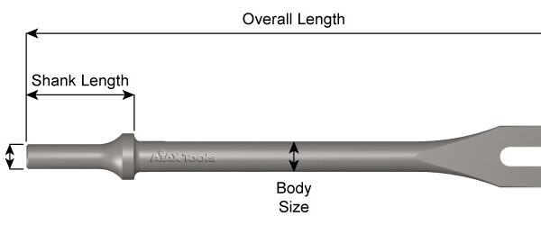 Ajax Tools AJX-A1101 (Ajax Rivet/Zip Gun Chisels)