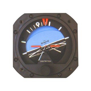 1U149-010-4, Model 5000B-54 Sigma-Tek Attitude Indicator, Air, 8°, Lighted