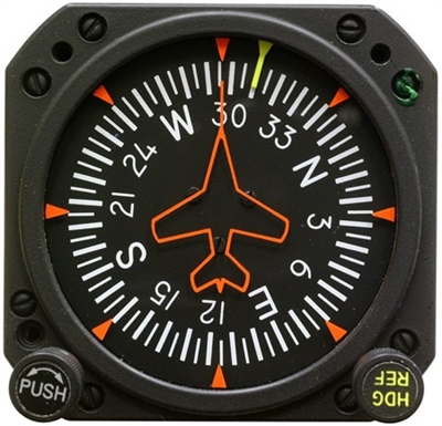 1U262-010-41, Model 4000HR-3 Directional Gyro, Air, Lighted, Heading reference