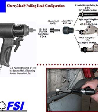 PT-100-MIL-5 Air Hydraulic Blind Riveter Tool Kit