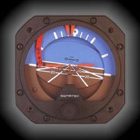 23-501-031-1, Model 5000B-38 Sigma-Tek Attitude Indicator, Air, 0°, Flag