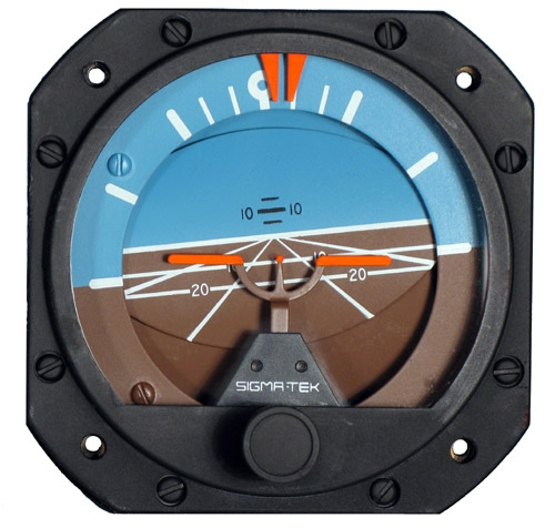 23-501-06-16, Model 5000B-36 Sigma-Tek Attitude Indicator, Air, 0°