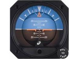 4300-208, Model 4300 Attitude Indicators - Electric, 10–32 VDC, 14°, Cirrus, Lighted, With inclinometer