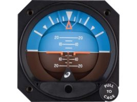 4300-311, Model 4300 Attitude Indicators - Electric, 10–32 VDC, Rotating roll dial, Traditional symbolic aircraft