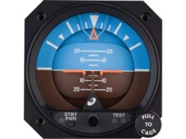4300-411, Model 4300 Attitude Indicator - Electric, 10–32 VDC, Rotating roll dial, Traditional symbolic aircraft