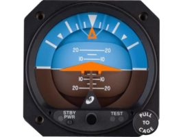 4300-413, Model 4300 Attitude Indicators - Electric, 10–32 VDC, Rotating roll dial, Delta symbolic aircraft