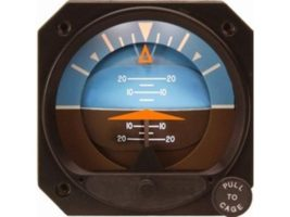 4300-414, Model 4300 Attitude Indicators - Electric, 10–32 VDC, Fixed roll dial, Delta symbolic aircraft