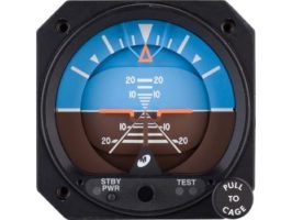 4300-431, Model 4300 Attitude Indicator - Electric, 10–32 VDC, Rotating roll dial, High resolution, Traditional symbolic aircraft
