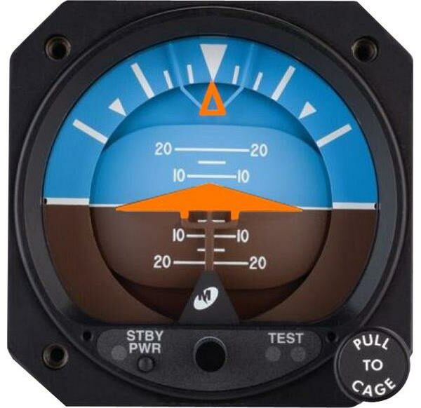 4300-613, Model 4300 Attitude Indicator, Electric, 10–32 VDC, Rotating roll dial, Delta symbolic aircraft, Auto switch to standby
