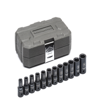 "14 Pc. 1/2"" Drive 6 Point Deep Impact Metric Socket Set GW-84955N"