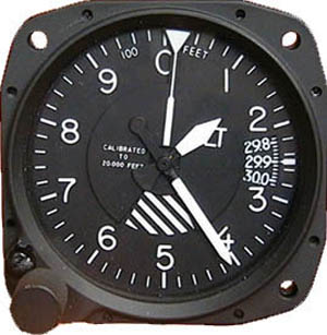 5934P-3A.194, Model 5934P-3 Altimeter-20K, In., Lighted