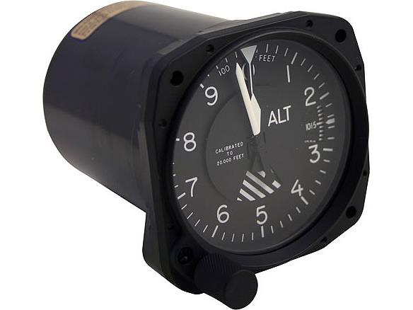 5934PD-3A.130, Model 5934PD-3 Altimeter - 20K, Dual scale