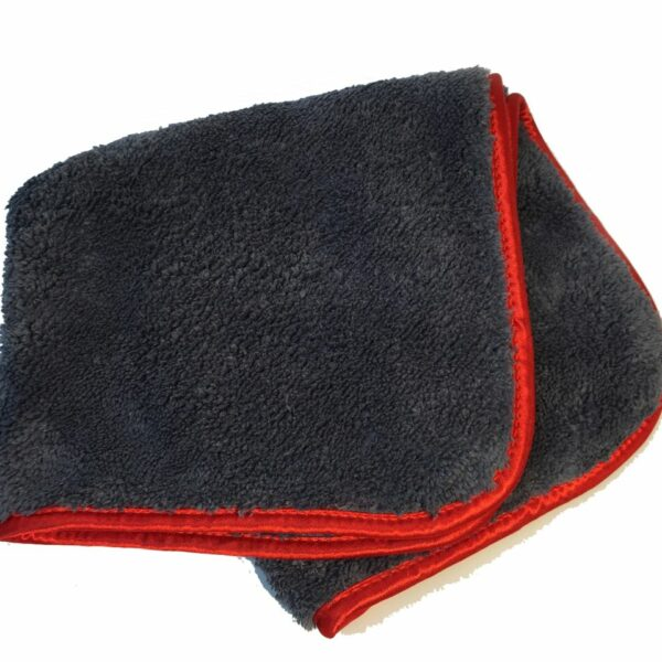 600 GSM Microfibre Cloth - Navy w/ Red Silk Lining