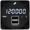 "6420093-1, Model MD93 Digital Clock/USB Charger, 2"", 10–32 VDC, Digital, Dual USB"