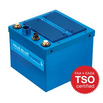 6430017-2, Model TB17 Aviation Battery, 26.4 VDC, 17 Ah, Lithium-ion, TSO, With heater on/off feature
