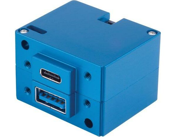 6430202-2 USB Charging Port, Model #: TA202, 10-32 VDC, Dual Type-A / Type-C, Bottom connector