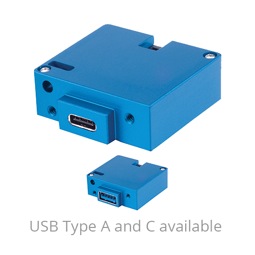 6430202-20 USB Charging Port, Model #: TA202, 10-32 VDC, Single Type-A, Bottom connector, Lighted