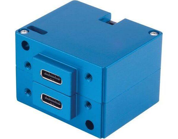 6430202-3 USB Charging Port, Model #: TA202, 10-32 VDC, Dual Type-C / Type-C, Rear connector