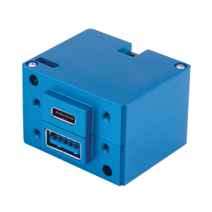 6430202-6 USB Charging Port, Model #: TA202, 10-32 VDC, Dual Type-A / Type-A, Bottom connector