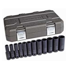 "12 Pc. 1/2"" Drive 6 Point Deep Impact SAE Socket Set GW-84942N"