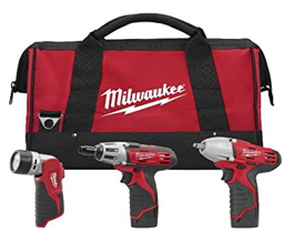 Milwaukee 12V Cordless LITHIUM-ION 3-Tool Combo Kit MLW-2491-23