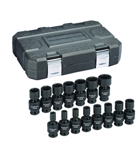 "15 Pc. 3/8"" Drive 6 Point Standard Universal Impact Metric Socket Set GW-84918N"