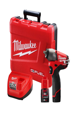 "Milwaukee 12V 3/8"" Square Drive Impact Wrench with Friction Ring Kit MLW-2451-22"