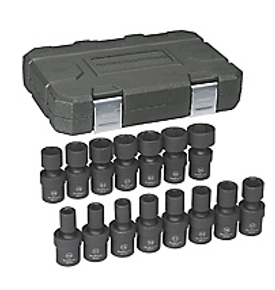 "1/2"" Drive 6 Point Standard Universal Impact Metric Socket Set GW-84939N"