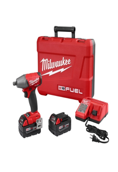 "Milwaukee 18V 1/2"" Drive Compact Impact Wrench with Friction Ring Kit MLW-2755B-22"