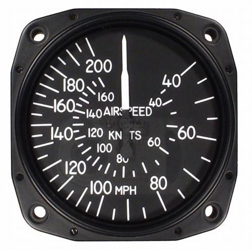 "Airspeed Indicator 8000-B.166, 3"", 40-200MPH/35-170 Knots"