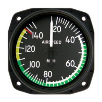 "Airspeed Indicator 8000-B.234, 3"", 0-150MPH"