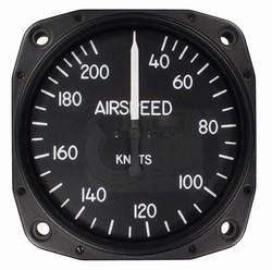 """Airspeed Indicator 8025-B.447, 3"""", 40-210 Knots"""