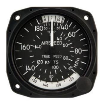 "Airspeed Indicator 8100-B.154, 3"", 40-200MPH/35-170 Knots"