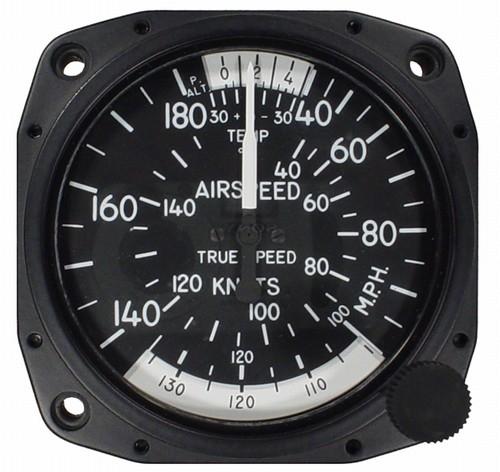 "Airspeed Indicator 8100-B.96, 3"", 40-180MPH/35-155 Knots"