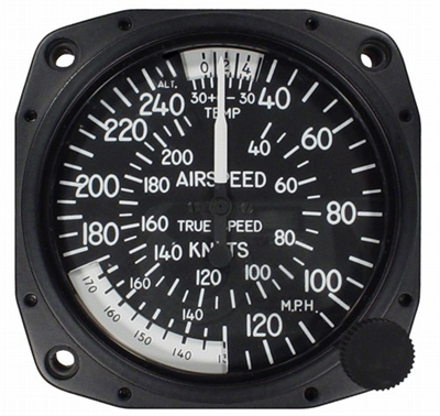 "Airspeed Indicator 8125-B.178, 3"", 40-250MPH/40-215 Knots"