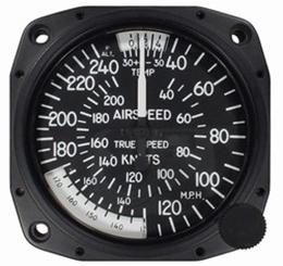 "Airspeed Indicator 8125-B.97, 3"", 40-240MPH/40-210 Knots"