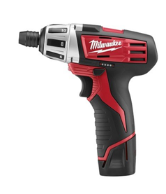 "Milwaukee 12V 1/4"" Hex Compact Screwdriver Kit MLW-2401-22"