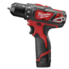 "Milwaukee 12V 3/8"" Compact Drill/Driver Kit MLW-2407-22"