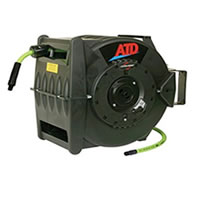 ATD-31163 Levelwind Retractable Air Hose Reel with 3/8 x 60' Premium Flexzilla Hose
