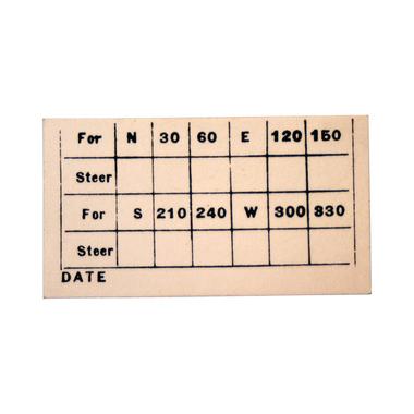 C23-807 Compass Correction Card