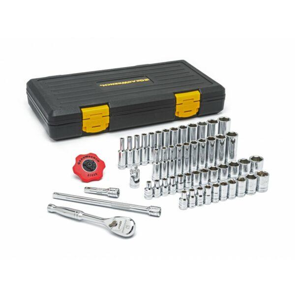 "Gear Wrench 51 piece 1/4""Drive SAE/Metric Standard & Deep Socket Set GW-80300P"