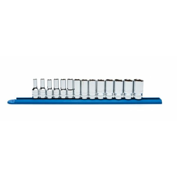 """Gear Wrench 14 Pc. 3/8"""" Drive 6 Point Mid Length Metric Socket Set GW-80554S"""