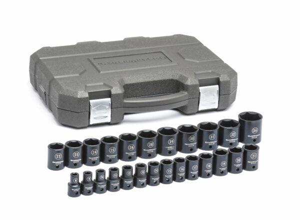 """1/2"""" Drive 6 Point Standard Impact Metric Socket Set GW-84933N"""