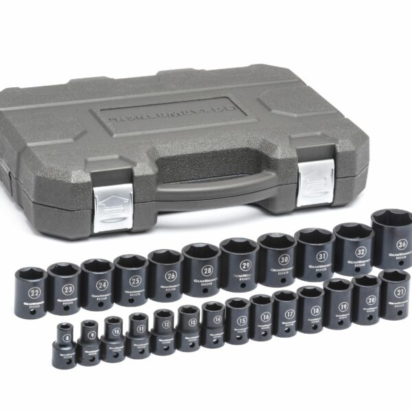"1/2"" Drive 6 Point Standard Impact Metric Socket Set GW-84933N"