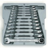 12 Pc. 12 Point Ratcheting Combination Metric Wrench Set GW-9412