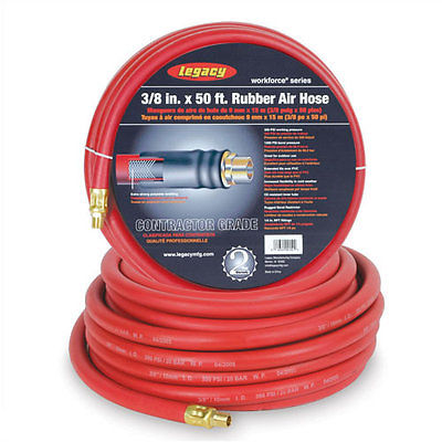 "Legacy LEG-HRE3850RD2, 3/8""X50ft Heavy Duty Air Hose"