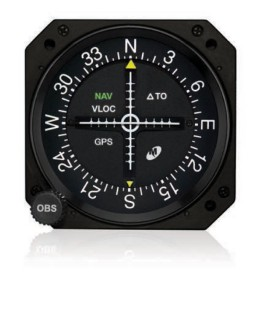 "MD200-706 Course Deviation Indicator, Model MD200, 3"", Lighted, Glideslope"
