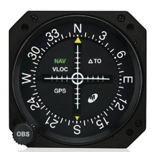 "MD200-707 Course Deviation Indicator, Model MD200, 3"", Lighted, Glideslope and course datum"