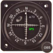 """MD222-506 Course Deviation Indicator, Model MD222, 2"""", BC, GS/LOC, NAV, GPS, With resolver"""