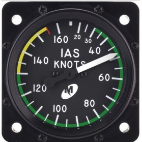 "Airspeed Indicator MD25-160, 2"", 20–160 knots, Lighted"